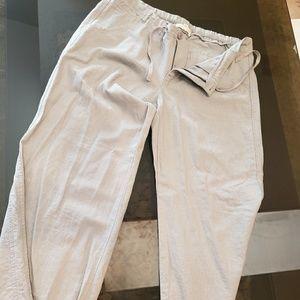 Pants - Grey Linen Psnts